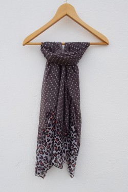 PAÑUELO ANIMAL PRINT GRIS